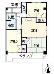 美サイレントマンションII[4階]の間取り