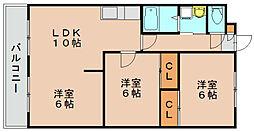 シャトレ21箱崎[3階]の間取り