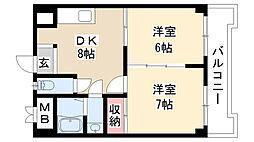 愛知県名古屋市南区外山1丁目の賃貸マンションの間取り