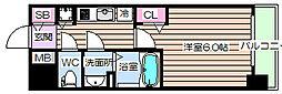 プレサンス野田阪神駅前ザ・プレミアム[14階]の間取り