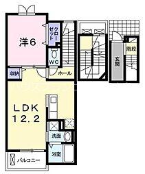 広島電鉄6系統 舟入川口町駅 徒歩7分の賃貸アパート 3階1LDKの間取り