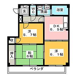 コンコードHAYASHI[2階]の間取り