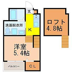 仮称)高畑五丁目デザイナーズ(タカバタゴチョウメデザイナーズ[2階]の間取り