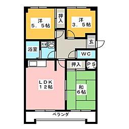 メゾン泰和[4階]の間取り