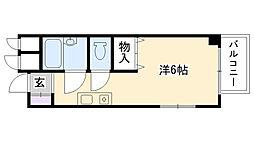 南昭和ハイツ[208号室]の間取り