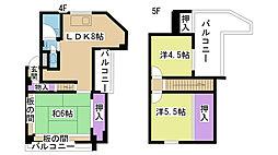 大阪府摂津市学園町2丁目の賃貸マンションの間取り