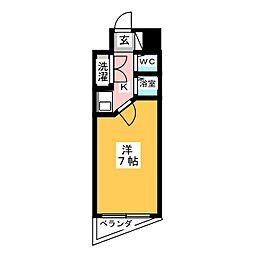 ラフィネ杁中[11階]の間取り