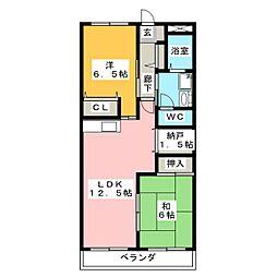 コーポMK[2階]の間取り