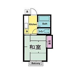 第1コーポミカ[2階]の間取り