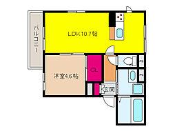 JR東海道・山陽本線 六甲道駅 徒歩9分の賃貸アパート 1階1LDKの間取り