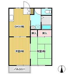 長野県佐久市岩村田の賃貸アパートの間取り