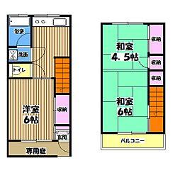 富士見町ハイツ[1階]の間取り