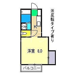 菜の花ハイツ[2階]の間取り