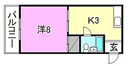 枝松マンション[203 号室号室]の間取り