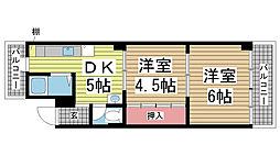 諏訪山マンション[4階]の間取り