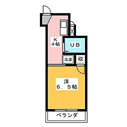 メゾン阪野[4階]の間取り