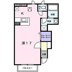 大阪府八尾市刑部4丁目の賃貸アパートの間取り