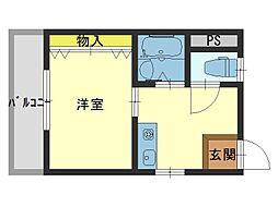 タウンコート新深江[2階]の間取り