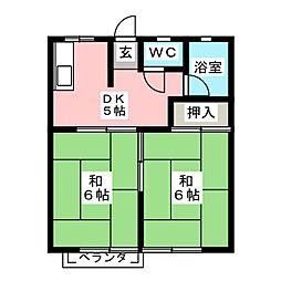 ピュア福成[1階]の間取り