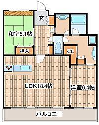 ワコーレ神戸北野セリュックス[1102号室]の間取り
