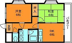 奈良県香芝市尼寺2丁目の賃貸マンションの間取り