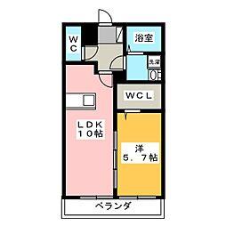 静岡県静岡市駿河区西島の賃貸マンションの間取り