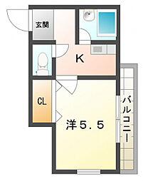 栄町グリーンハイツ[4階]の間取り