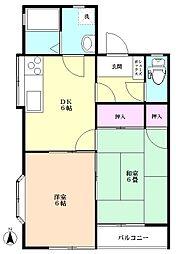 コーポ東C棟[2階]の間取り