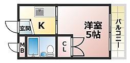 永井ビル[4階]の間取り