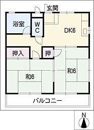 グリーンハイツ桃山[2階]の間取り