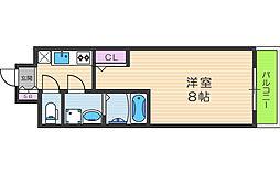 アルグラッド梅田WEST 2階1Kの間取り