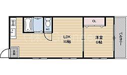 ハイツ濱2号館[1階]の間取り