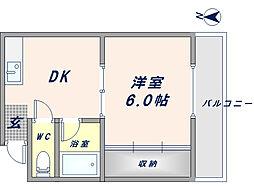 サンコート小澤[303号室]の間取り