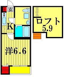 HORIZONIII[2階]の間取り