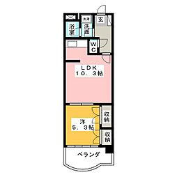 ゲストハウスレインボー伏見[2階]の間取り