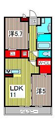 安行藤八D−room II[2階]の間取り