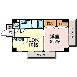 富士見町SKビル[5階]の間取り