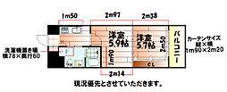 No.65 クロッシングタワーORIENT BLD.[21階]の間取り