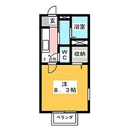 メゾンHANAMARU B棟[1階]の間取り