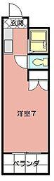 リファレンス三萩野[210号室]の間取り