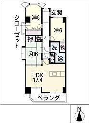 ラルゴ白壁[10階]の間取り