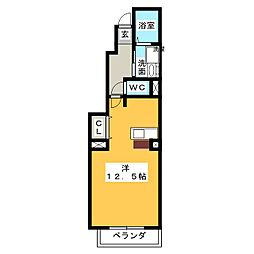 アバンツァート社台[1階]の間取り