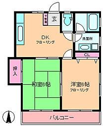 三光ハイツ[2階]の間取り
