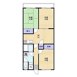 グレースマンション[302号室]の間取り