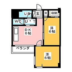 第7スカイビル[4階]の間取り