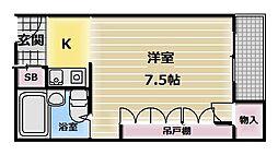 MAISON YAMATO[6階]の間取り