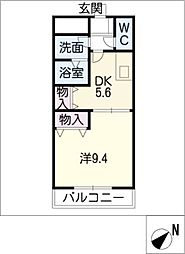 グローリアス高松[2階]の間取り