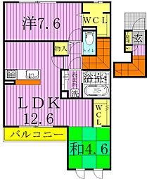京〜ミヤコ〜[5201号室]の間取り