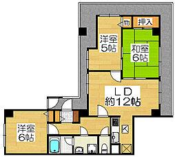 セザール堺宿院[8階]の間取り