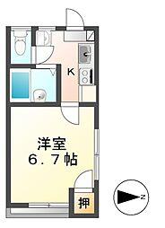 プチハウス三輪[2階]の間取り